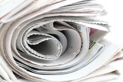 Newspaper roll Stock Image