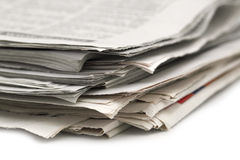 Newspaper roll Stock Photo