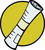 Newspaper roll vector illustration Stock Photography