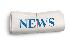 Newspaper roll Royalty Free Stock Photo