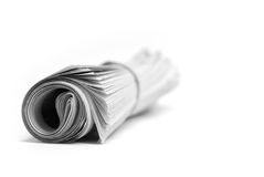 Newspaper Rolled Up Stock Images