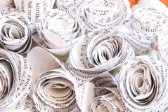 Newspaper rose craft Stock Photography