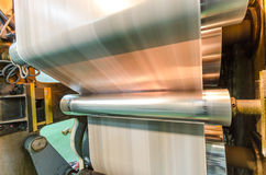 Newspaper roto print machine side view Royalty Free Stock Photography