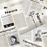 Newspaper seamless pattern. Repeating newspaper background (black and white Stock Image