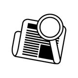 newspaper search letter news daily line Stock Photography