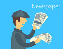 Newspaper selling Royalty Free Stock Photos
