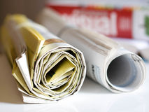 Newspaper series Royalty Free Stock Images