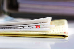 Newspaper series royalty free stock photos