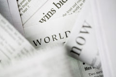 Newspaper series Royalty Free Stock Photo