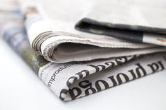 Newspaper series Royalty Free Stock Image