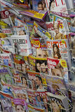 Newspaper in the shop. In poland stock images