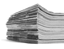 Newspaper Stack Stock Photos