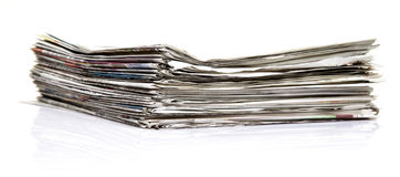 Newspaper stack Royalty Free Stock Photography