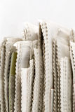 Newspaper Stack. On white background royalty free stock images