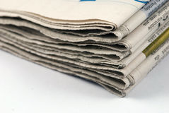 Newspaper stack Royalty Free Stock Image
