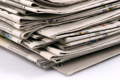 Newspaper stack Royalty Free Stock Photo