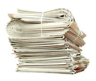 Newspaper stack Royalty Free Stock Images