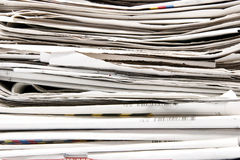 Newspaper stack. Big stack of newspapers, paper Royalty Free Stock Image