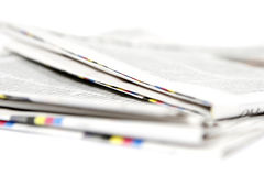 Newspaper stack. Big stack of newspapers, paper Royalty Free Stock Photography