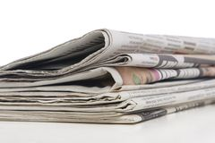 Newspaper stack, information concept Stock Photos