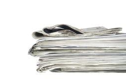 Newspaper stack Stock Photo