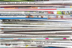Newspaper. Stack and pattern of newspaper background royalty free stock photos