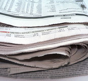 Newspaper - stacked up Stock Images