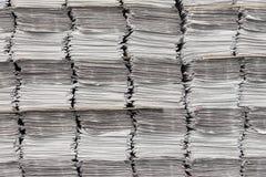 Newspaper stacks background Stock Photo