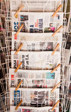 Newspaper stand Stock Photo