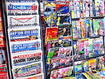 Newspaper stand. Of a market in Turkey. Istanbul - 30.03.2009