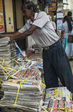 Newspaper stand in Kandy Stock Image