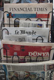 Newspaper stand Stock Photos