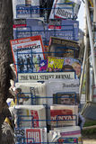 Newspaper stand. London Newspaper stand refects the diverse range of newspapers and languages of modern London Royalty Free Stock Photos