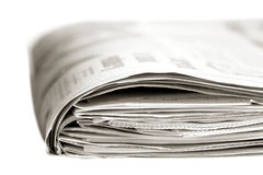 newspaper sunday Royaltyfri Fotografi