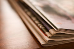 Newspaper and supplements Stock Image