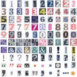 Newspaper symbols and numbers