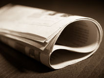 Newspaper on the table Royalty Free Stock Images