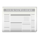 Newspaper template royalty free illustration