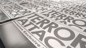 Newspaper Terrorism Press Run End Royalty Free Stock Photography