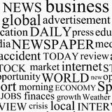 Newspaper texture Royalty Free Stock Image
