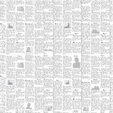 Newspaper vector background. Newspaper background - vector seamless black and white pattern Royalty Free Stock Photography