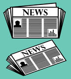 Newspaper Vector Icon Royalty Free Stock Image