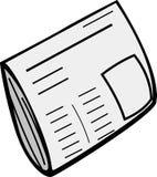 Newspaper vector illustration. Vector illustration of a newspaper Stock Photo