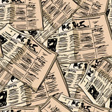 Newspaper vintage seamless background Stock Images