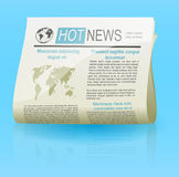 Newspaper web icon Stock Images