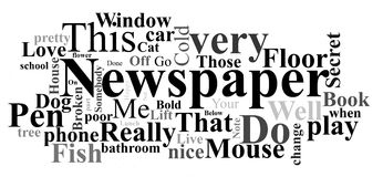 Newspaper - words collage Stock Image