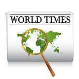 Newspaper world Royalty Free Stock Image