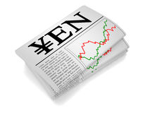 Newspaper Yen Royalty Free Stock Image