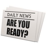 Newspaper are you ready Royalty Free Stock Image