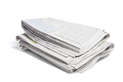 Newspapers. On Isolated White Background Royalty Free Stock Image